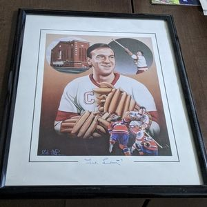 Ted Lindsay autographed poster(Olympia)